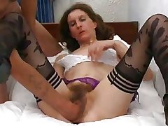 skinny french hairy mature chasmal fisted and sodomized