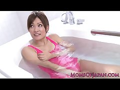 Pink negligee japanese milf wam toy entertainment