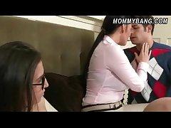 Stupendous jugs stepmom Vanilla Deville 3way with naughty teens