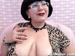 mature milf teasing mainly web cam big gut