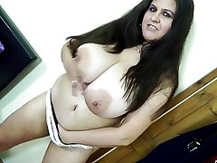 Low-spirited full-grown mother and mother surrounding hungry vaginas